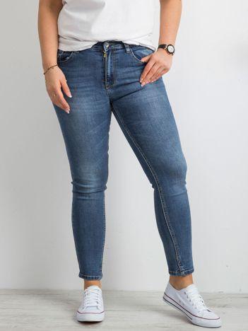 Niebieskie jeansy push up PLUS SIZE
