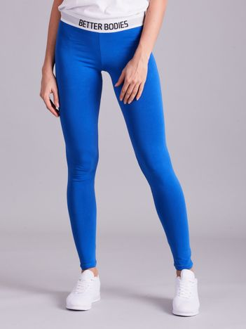 Niebieskie legginsy damskie
