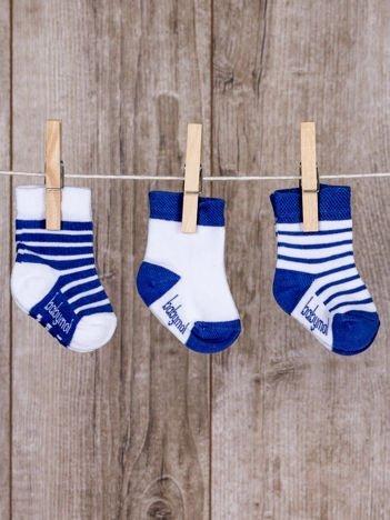 Niebieskie skarpetki dziecięce zestaw 3 pary