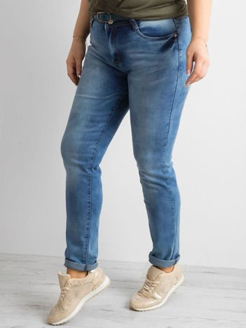 Niebieskie spodnie jeansowe PLUS SIZE