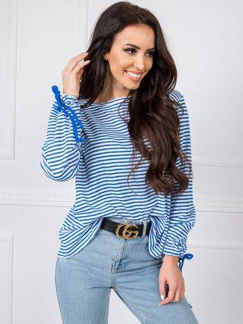 Niebiesko-biała bluzka BSL