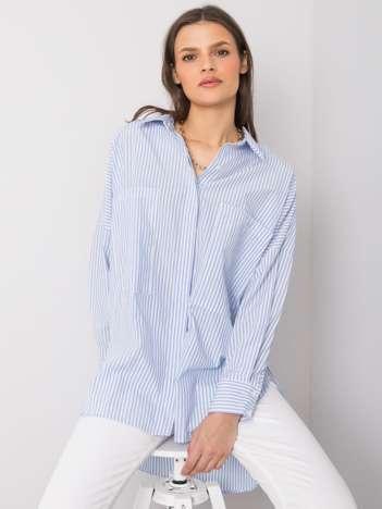 Niebiesko-biała koszula w paski Malena RUE PARIS