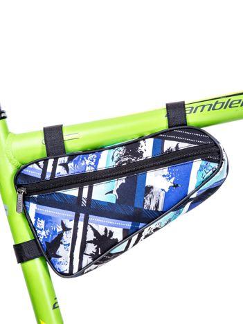 Niebiesko-czarna saszetka na rower