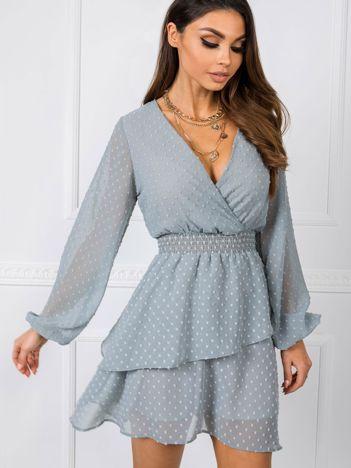 Niebiesko-szara sukienka Violette RUE PARIS