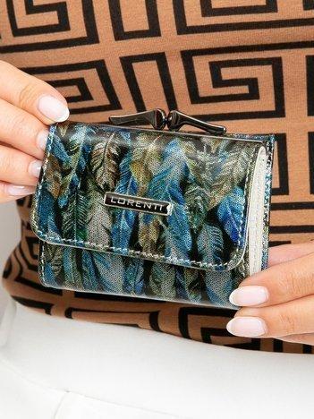 Niebiesko-zielony mały portfel damski