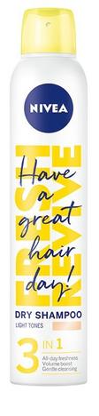 Nivea Fresh Revive Suchy Szampon do włosów 3in1 Light (dla blondynek) 200 ml