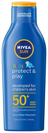 "Nivea Sun Balsam do opalania Protect&Play SPF50+ dla dzieci 200ml"""