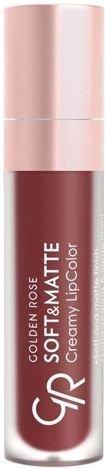 Nowość!!! GOLDEN ROSE Soft & Matte Creamy Lip Color matowa pomadka 115 5,5 ml