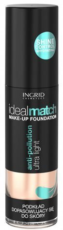Nowość! INGRID COSMETICS Podkład dopasowujący się do koloru skóry IDEAL MATCH 401 Pearl Beige 30 ml