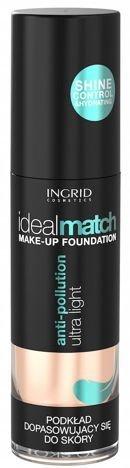 Nowość! INGRID COSMETICS Podkład dopasowujący się do koloru skóry IDEAL MATCH 402 Natural 30 ml