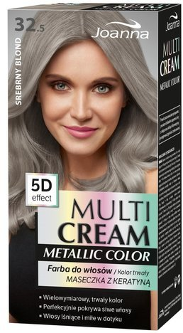 Nowość! JOANNA MULTI CREAM Metallic COLOR Farba 32.5 Srebrny blond