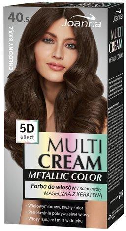 Nowość! JOANNA MULTI CREAM Metallic COLOR Farba 40.5 Chłodny brąz