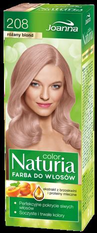 Nowość! JOANNA NATURIA COLOR Farba Różany blond(208)