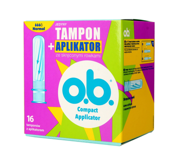 O.B.ProComfort Compact Applicator Normal Tampony z aplikatorem 16 szt.