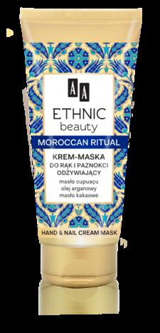 OCEANIC AA ETHNIC BEAUTY Marokański Krem Maska do rąk i paznokci odżywiający 75 ml
