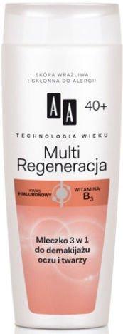 OCEANIC AA Technologia Wieku 40+ Multi Regeneracja Mleczko 3 w 1 do demakijażu oczu i twarzy 200 ml