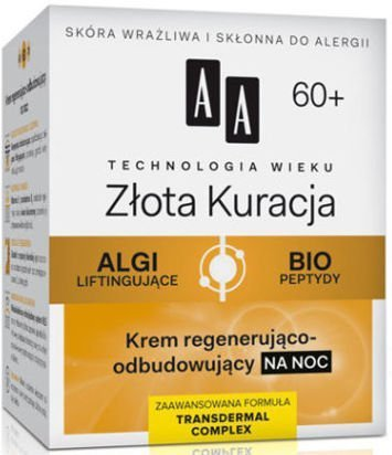 OCEANIC AA Technologia Wieku 60+ Złota Kuracja Krem regenerująco-odbudowujący na noc 50 ml