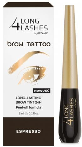 OCEANIC Long4Lashes Brow tattoo long lasting brow tint 24H Espresso 8 ml
