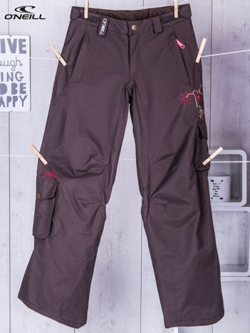 O'NEILL Brązowe spodnie narciarskie dla dziewczynki