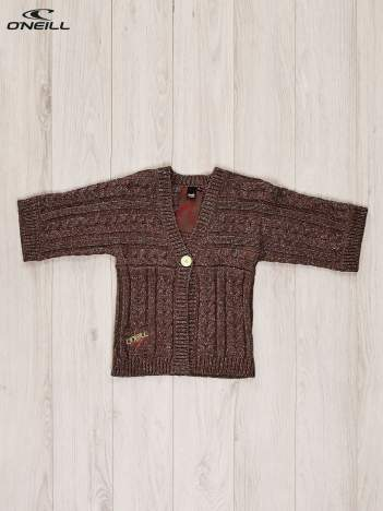 O'NEILL Brązowy sweter dla dziewczynki z kolorową nitką