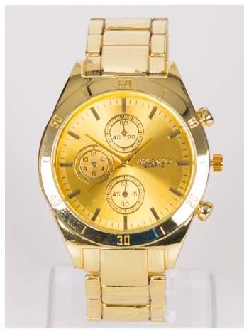 ORLANDO Sportowy złoty męski zegarek na bransolecie