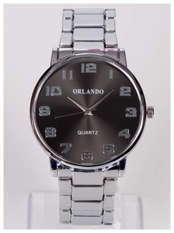 ORLANDO Srebrny męski zegarek na bransolecie
