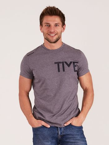 OUTHORN Szary t-shirt męski