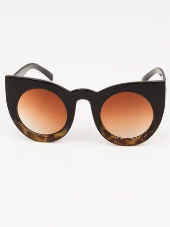 Okulary damskie słoneczne KOCIE OCZY RETRO