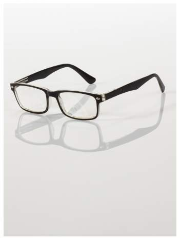 Okulary korekcyjne +1.5 D ,model WAYFARER do czytania z systemem FLEX na zausznikach +GRATIS PLASTIKOWE ETUI I ŚCIERECZKA Z MIKROFIBRY