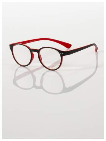 Okulary korekcyjne  +3.0 D dwukolorowe ,do czytania, stylizowane na RAY BAN +GRATIS PLASTIKOWE ETUI I ŚCIERECZKA Z MIKROFIBRY
