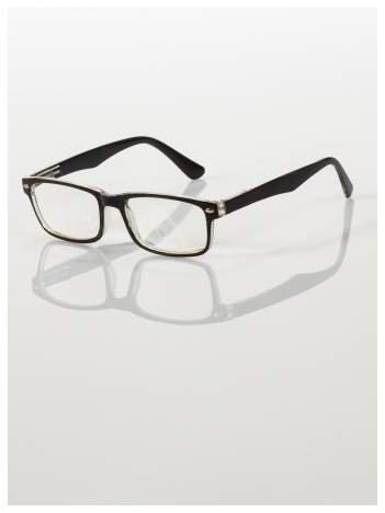Okulary korekcyjne +3.5 D ,model WAYFARER do czytania z systemem FLEX na zausznikach +GRATIS PLASTIKOWE ETUI I ŚCIERECZKA Z MIKROFIBRY