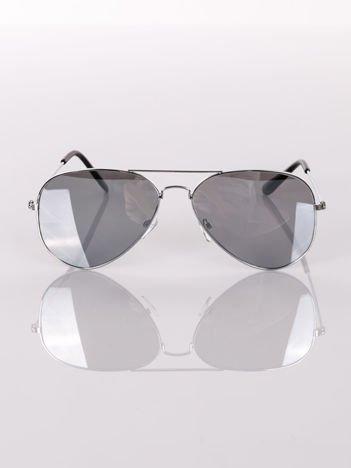 Okulary przeciwsłoneczne AVIATOR srebrne pilotki lustrzanki zawsze na czasie  !