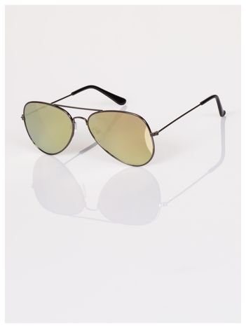 Okulary przeciwsłoneczne grafitowe AVIATOR pilotki złote lustrzanki zawsze na czasie  !