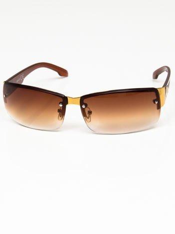 Okulary przeciwsłoneczne męskie szkło brązowe dymione