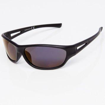 Okulary przeciwsłoneczne męskie w stylu sportowym ciemnoniebieska lustrzanka