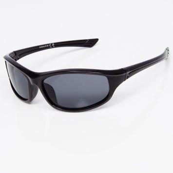 Okulary przeciwsłoneczne męskie w stylu sportowym szare szkłło