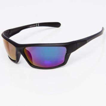 Okulary przeciwsłoneczne męskie w stylu sportowym zielono-niebieskie lustrzanka