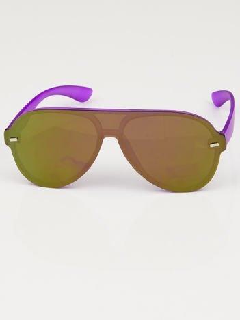 Okulary przeciwsłoneczne typu AVIATORY fioletowe