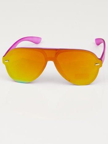 Okulary przeciwsłoneczne typu AVIATORY lustrzanki