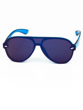 Okulary przeciwsłoneczne typu AVIATORY niebieskofioletowe