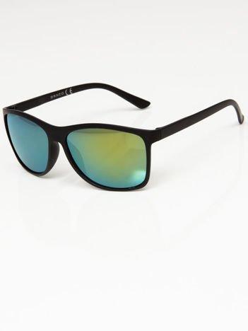 Okulary przeciwsłoneczne w stylu WAYFARER lustrzanki zielono-morskie