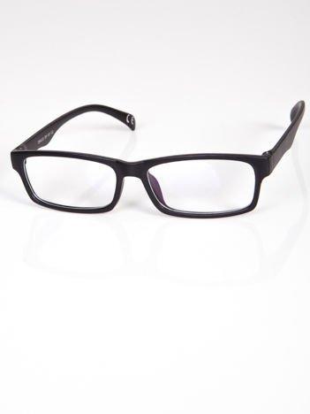 Okulary zerówki z antyrefleksem czarne matowe ramki