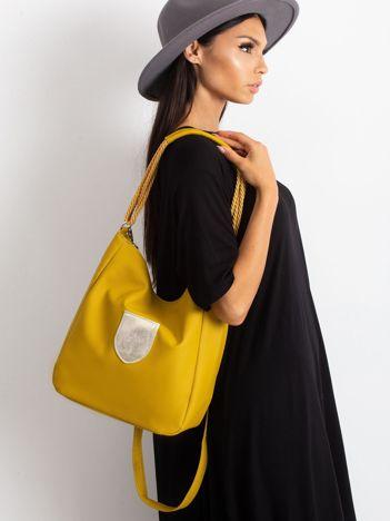 Oliwkowa torba z ekoskóry