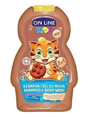 On Line Kids Szampon i żel do mycia ciała 2 w 1 Czekoladowe Ciasteczko  250 ml