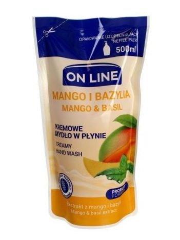 On Line Mydło w płynie kremowe Mango i Bazylia - uzupełnienie  500 ml