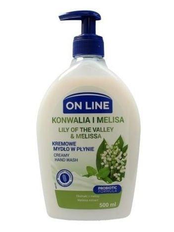 On Line Mydło w płynie kremowe z dozownikiem Konwalia i Melisa  500 ml