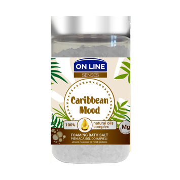 "On Line Senses Pieniąca Sól do kąpieli Caribbean Mood 480g"""