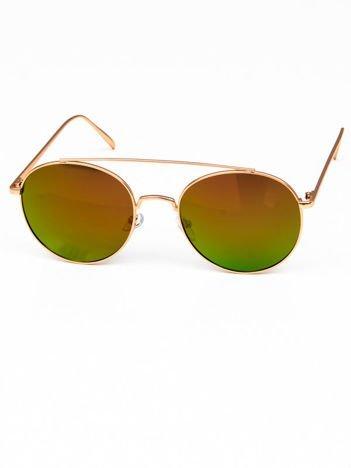 POLARYZACYJNE okulary typu LENONKI CZERWONOPOMARAŃCZOWE LUSTRZANKI + miekkie etui i ściereczka gratis