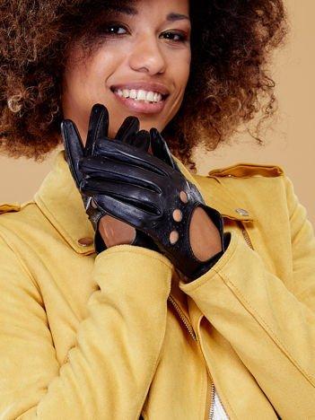 PREMIUM QUALITY Czarne Skórzane Damskie Rękawiczki CAŁUSKI