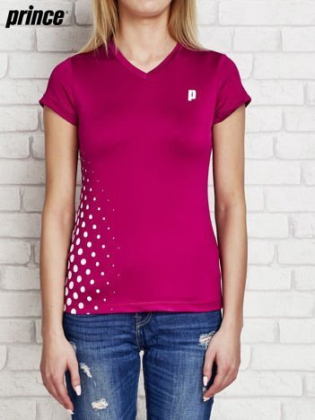 PRINCE Fioletowy t-shirt dla dziewczynki z motywem groszków